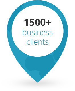 1500+ businesses clients